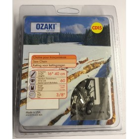 "Ozaki CD15 Chainsaw Chain - 16"" (40cm) .063 3/8"" 60 Link"